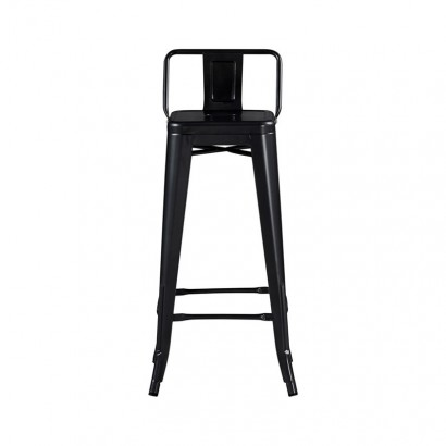 LOT DE 6 Tabouret Bar DESIGN INDUSTRIEL L31xl31x76CM Noir