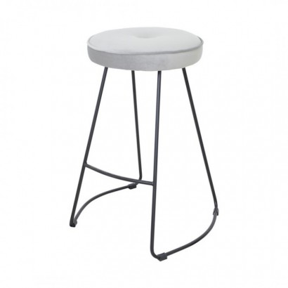 Kitchen Bar Stool - Grey -...