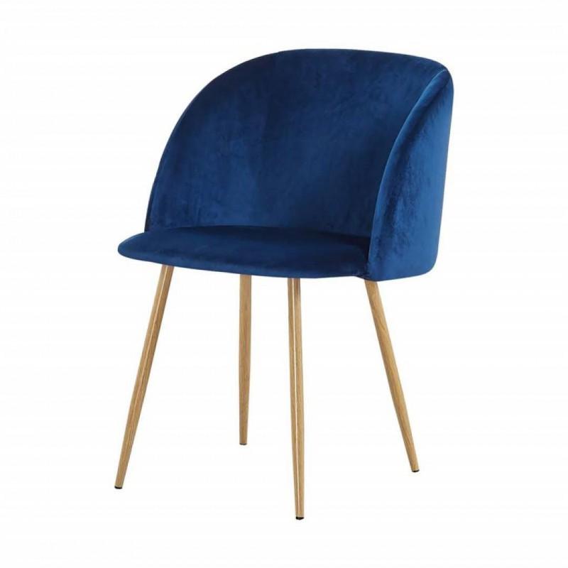 Chaise style scandinave Matelassé macaron