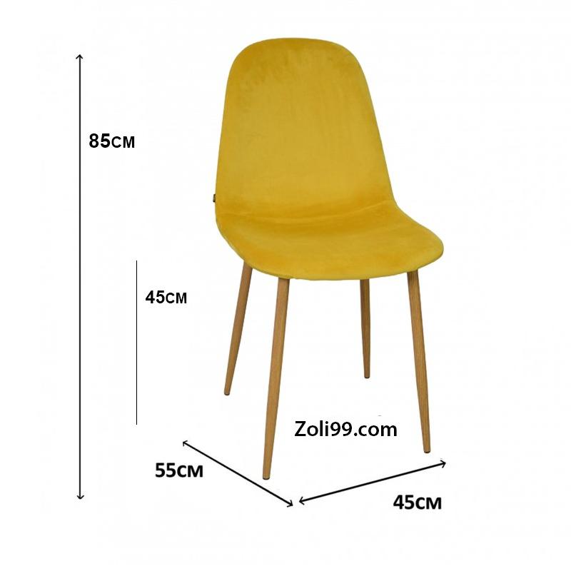 STOCKHOLM SCANDINAVIAN 45 velvet Chair * 55 * 85CM