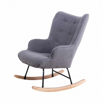 Rocking Rocking Chair H92X100X68CM suede Chair