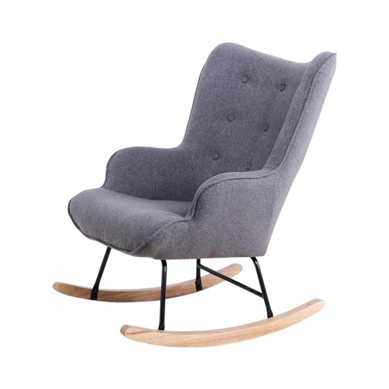 Rocking chair in fabric model Mama