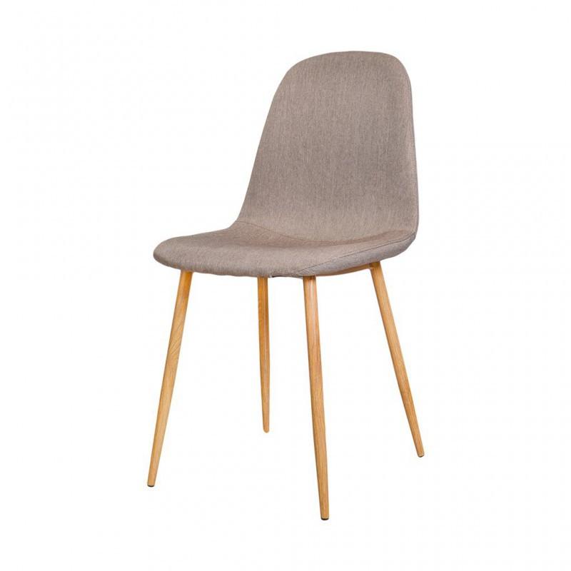 Chaise style scandinave en Tissu Chiné