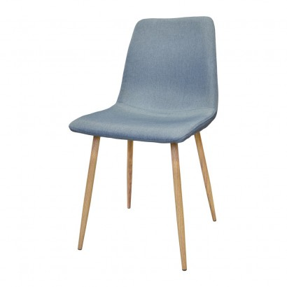 Chair DESIGN Metal Scandinave BLUE GRAY 45x55xH85cm