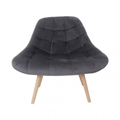 MINAY Velvet Armchair with...