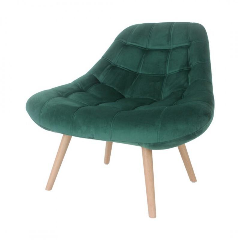 Padded velvet armchair - HESTER