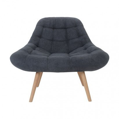 MINAY Suede Armchair with...