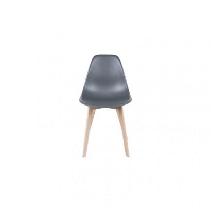 Chaise monochrome gris...