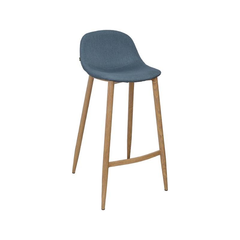 Tabouret Bar chaise haute Pieds métal Couleur Bois