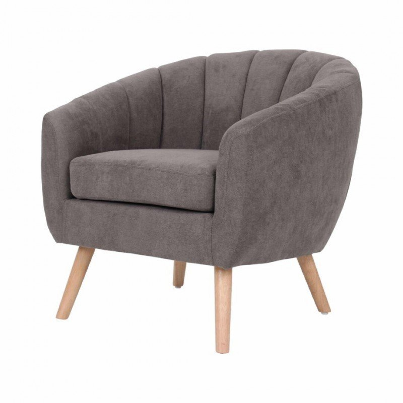 Upholstered fabric armchair - LINO