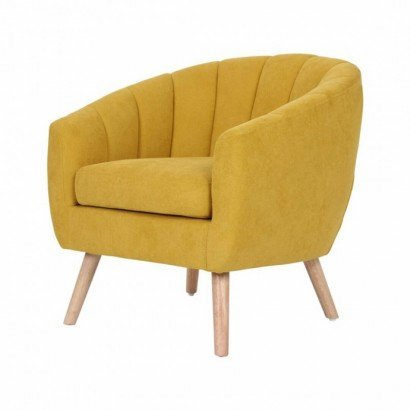 Upholstered fabric armchair...