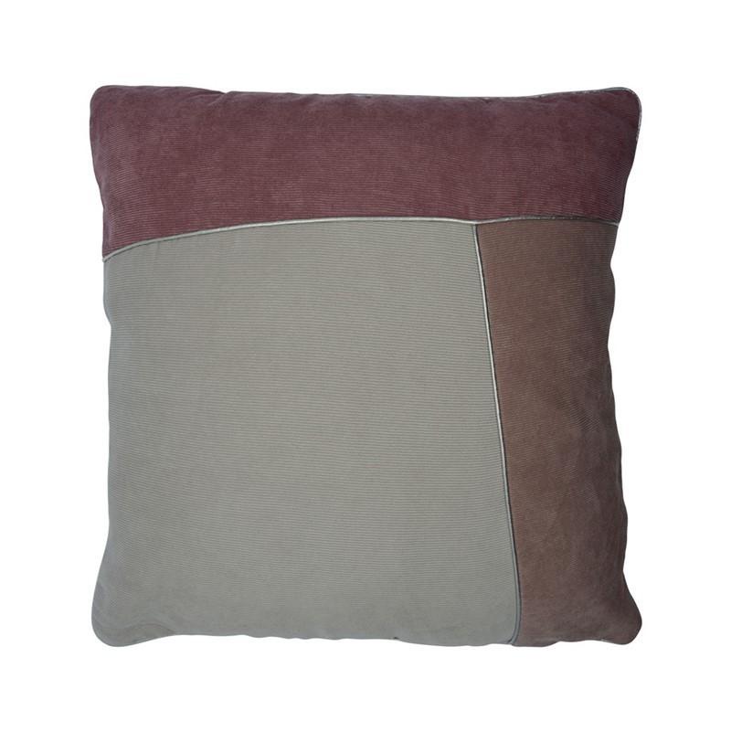 Coussins patchwork en velours côtelé 45x45cm