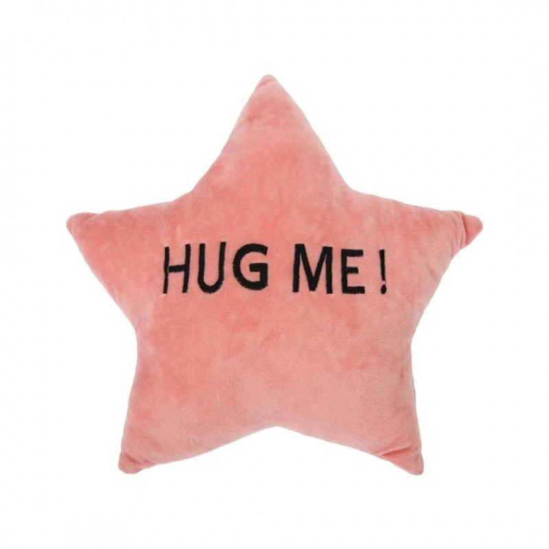 Coussin en étoile 'Hug Me!' en suédine