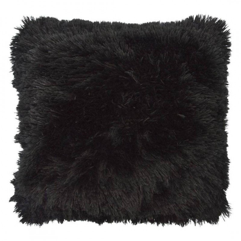 Lot de 2 coussins shaggy 50x50cm