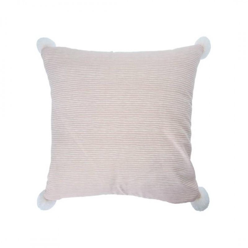 Cushion INDAH with pompoms 45x45