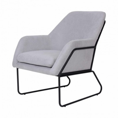 Suede Armchair with steel...