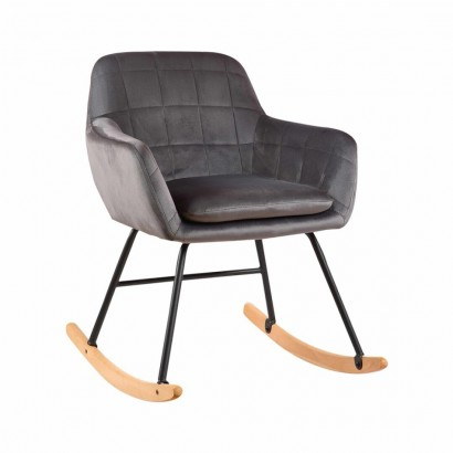 KATEL velvet rocking chair