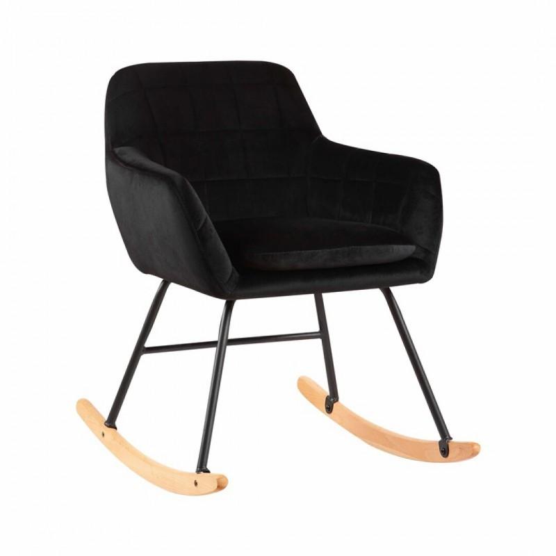 KATEL velvet rocking chair