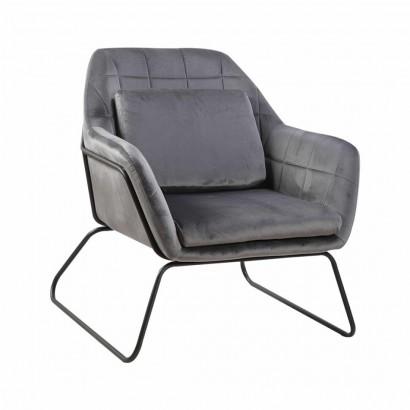 KATEL fauteuil en velours