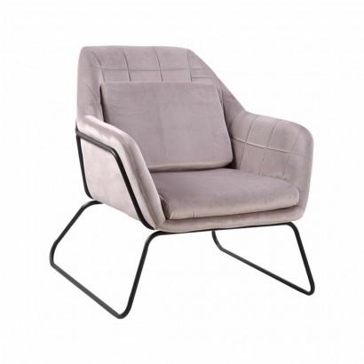 Velvet Armchair Katel -...