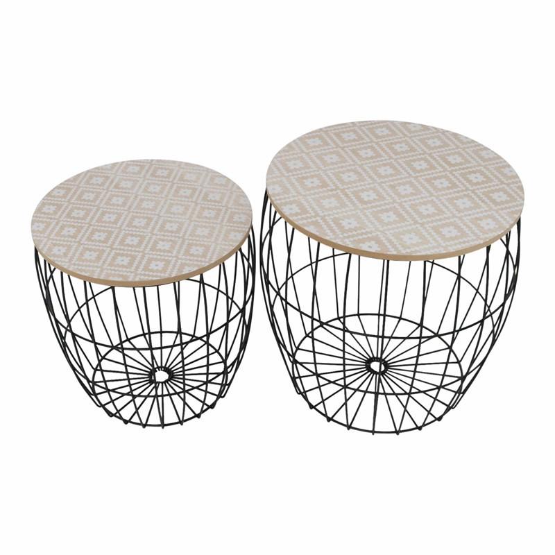 KORA set de2 table gigogne design GEO