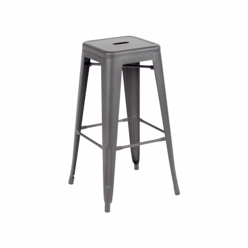 Industrial bar stool inspired by tolix Color MAT H76CM