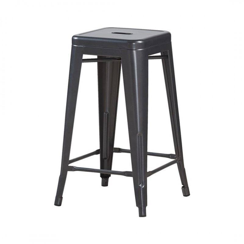 Industrial bar stool inspired by tolix H66CM