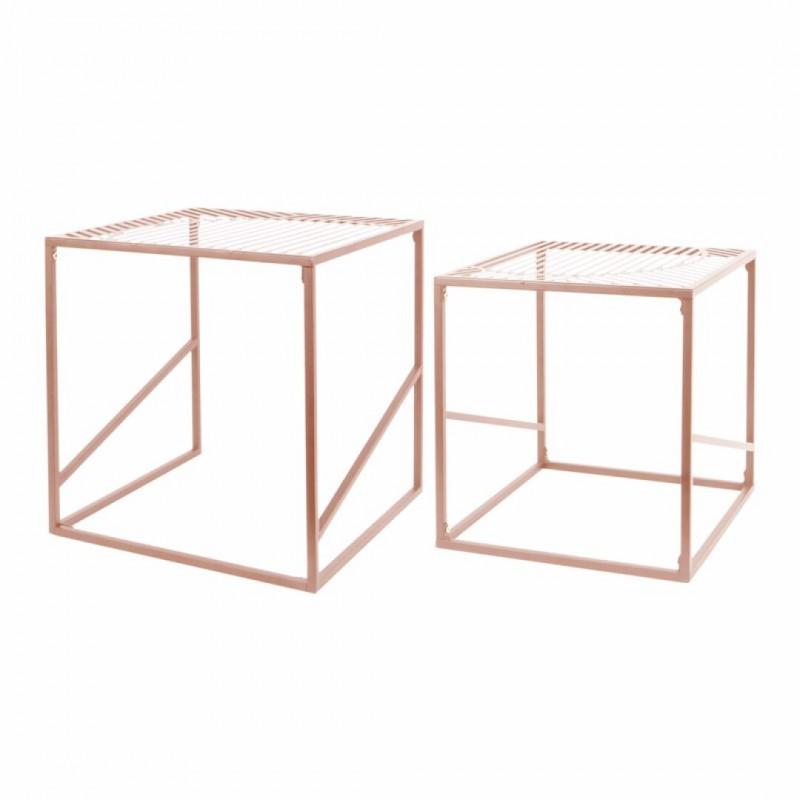 Set de 2 tables gigognes metal PQ7613C