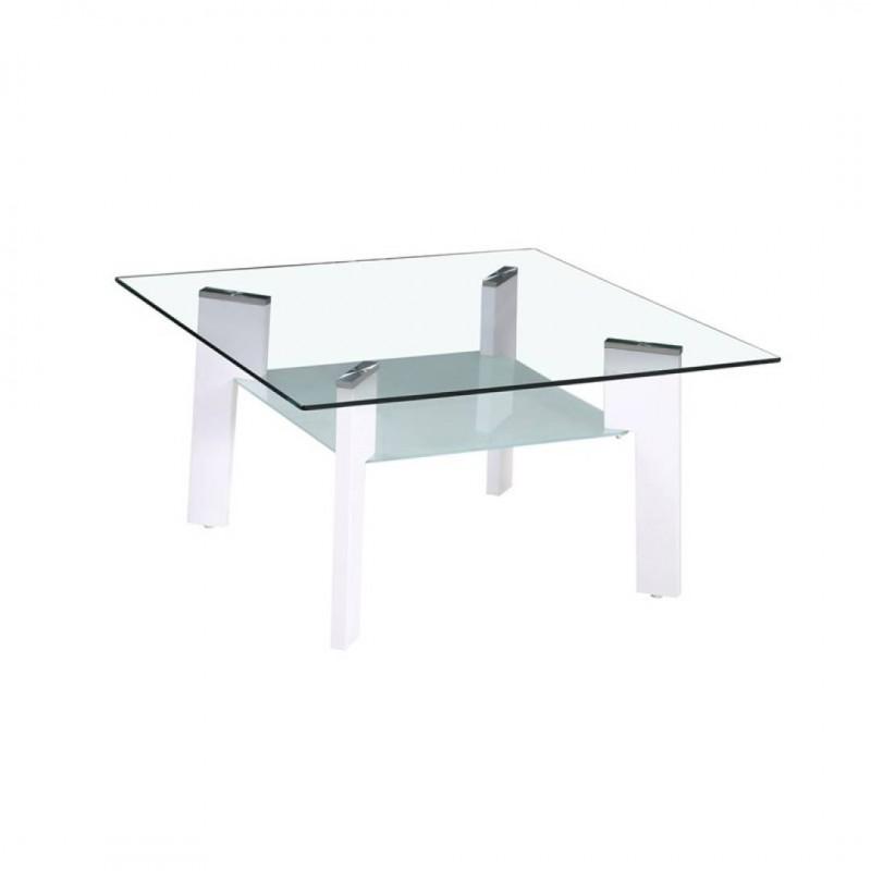 Table basse 80X60X44CM Pieds Blanc