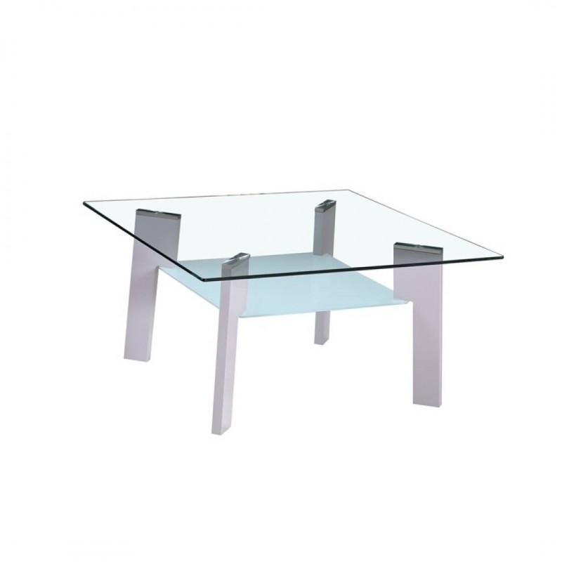 Table basse 80X60X44CM Pieds Gris