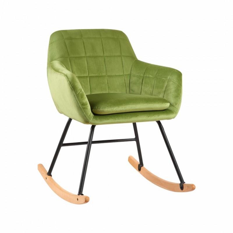 copy of KATEL fauteuil à bascule en suédine Bleu