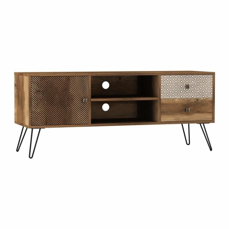 Houten TV-meubel Paris L.39 x D.120 x H.50 cm