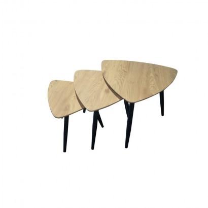 BADUS Table basse x3 Pieds Noir
