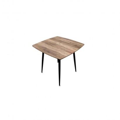 BLACKUS Table carré en Bois L. 80 x P. 80 x H. 72 CM
