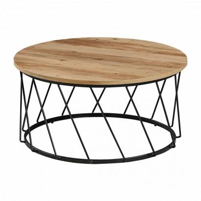 Table basse ronde pieds métal