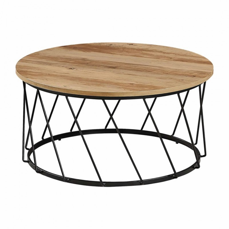 copy of BLACKUS Table carré en Bois L. 80 x P. 80 x H. 72 CM