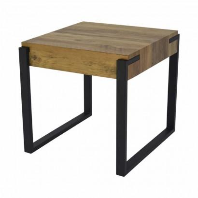 Wood side table black...