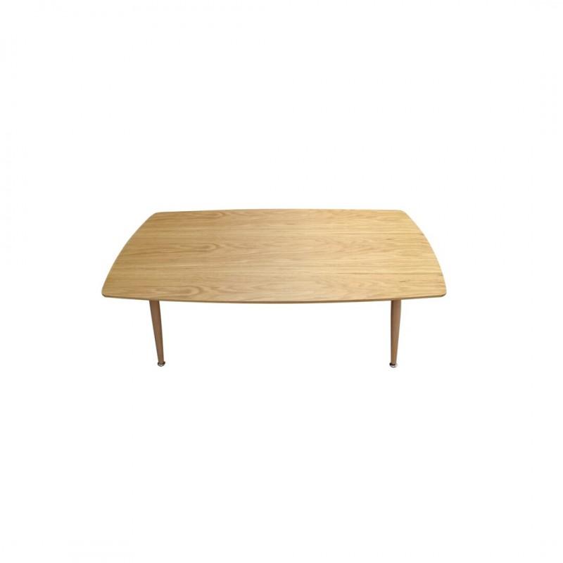 Salontafel geheel in rechthoekig hout.