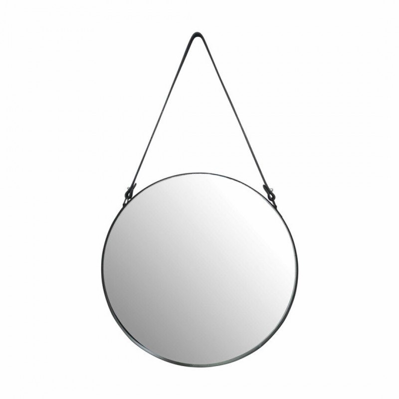 Mirror with imitation leather handle