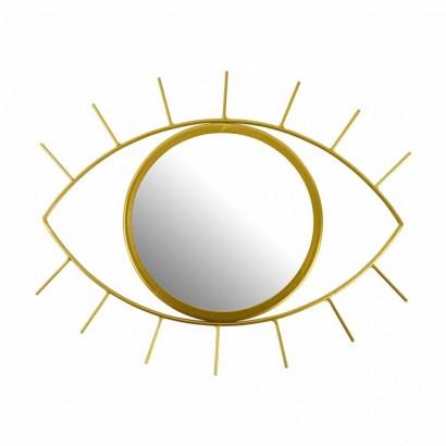 Miroir Design Oeil Doré
