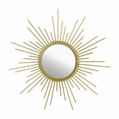Mirror metal sun design GOLD