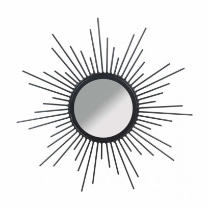 Mirror metal sun design BLACK