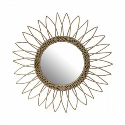 Miroir en rotin rond...
