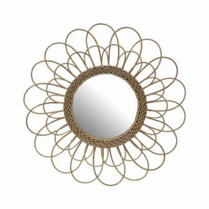 Mirror in Natural Rattan...