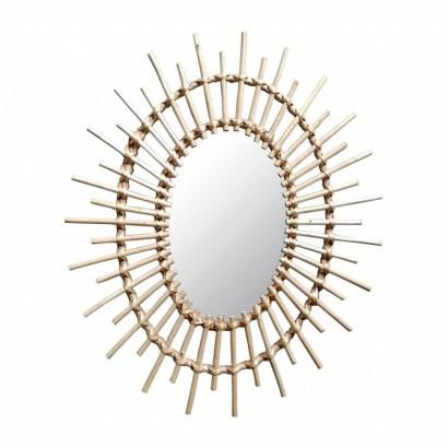 Miroir en rotin naturel OVALE