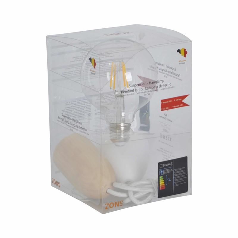 Hanging BATTERIJ + XXL LED PM COTTON CABLE Lamp