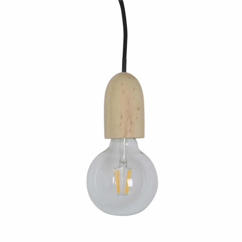 Set van 2 ophangingen + LED-lamp PM ZWART KABEL 80 cm doos KDO