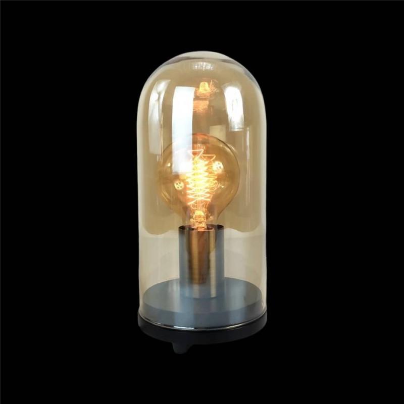 Glazen Kloklamp + Led-lamp