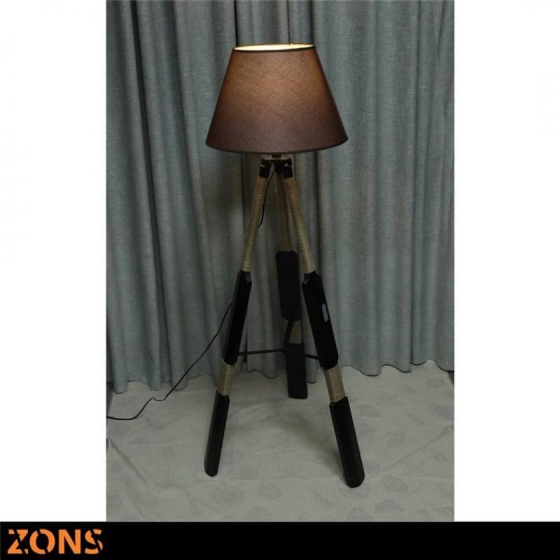 Scandinavian Floor Lamp RAFIA Black