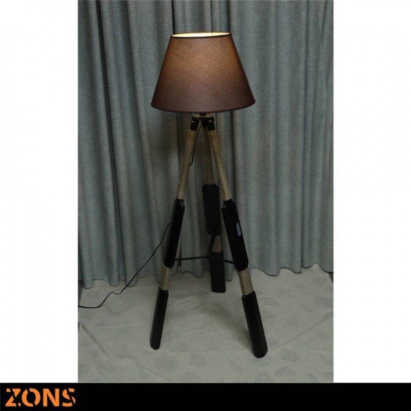 Vloerlamp RAFIA Zwarte Scandinavische lamp